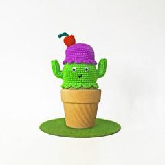 Ice-cream Crochet Cactus