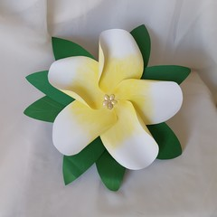 Beautiful Giant Handmade Frangipani Flower Wedding Bouquet (Style 2)