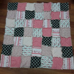 Pink Shaggy Quilt