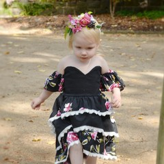 Evie- High low dress, party dress, kids dress