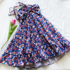 Sophia Dress- Floral Backless Dress