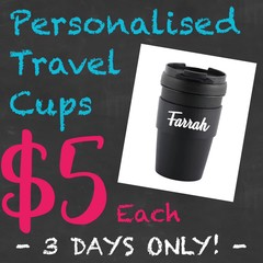 FSB - PERSONALISED TRAVEL COFFEE CUPS