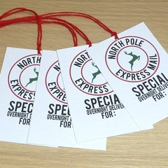 10 North Pole Express mail Santa gift tags - FREE POST