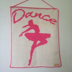 Dance Ballerina Crochet Wall Hanging