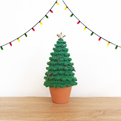 Crochet Christmas Tree with Star Tree Topper