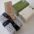 100% Organic Cotton Soap and Soap Saver Set