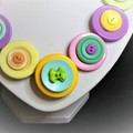 Pastel colours  button necklace - Perfectly Pastel