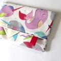 Travel Tissue Case, Pocket Tissue Holder - Candy Narwhals