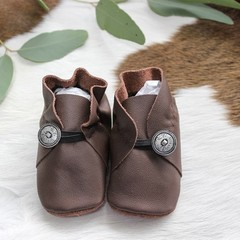 Unique Genuine Leather Soft Sole Baby Shoes - 11cm