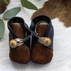 Unique Genuine Leather Soft Sole Baby Shoes - 11cm