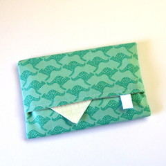 Travel Tissue Case, Pocket Tissue Holder - Australian Blue Kangaroos