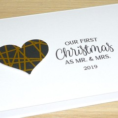 First Christmas as Mr & Mrs - husband wife Christmas card