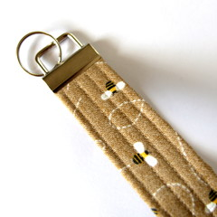 Wrist Key Fob / Keyring - Honeybees
