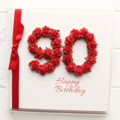 Any Age Personalised card birthday gift box red 18 21 30 40 50 60 70 80 90