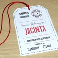 Set 4 Personalised large Christmas gift tags - straight from Santa's workshop