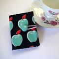 Tea Bag Wallet - Apples on Navy Blue