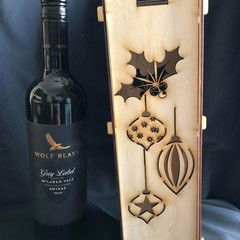Wine Bottle Gift Box - The Most Wonderful Time