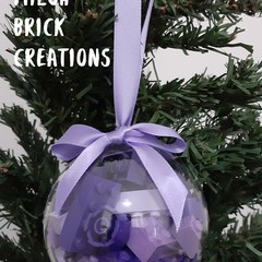 Purple Plum Brick-filled Clear Decoration