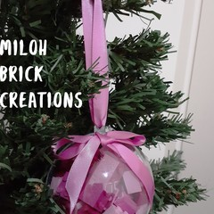 Lolly Pink Brick-filled Clear Decoration