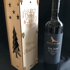 Wine Bottle Gift Box - Eat, Drink, Be Merry
