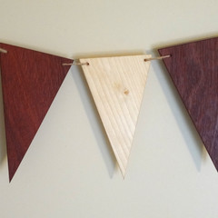Toys of Wood Wooden Pennant Set of eight