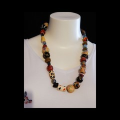 Mixed Colour Statement Necklace
