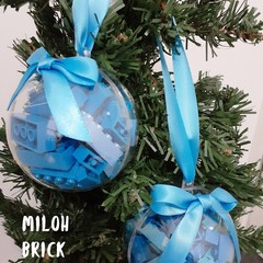 Breezy Blue Brick-filled Clear Decoration