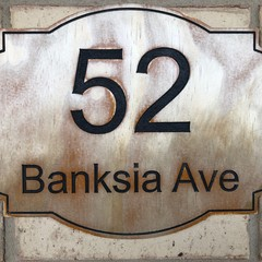 Custom Wooden House Number Street Wall Plaques