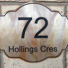 Custom House Number Street Wall Plaques