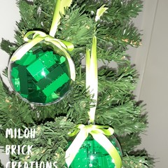 Evergreen Brick-filled Clear Decoration