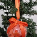 Tangy Orange Brick-filled Clear Decoration