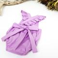 Lavender Ruffle Romper - Baby Girl Playsuit - Toddler Boho Onesie