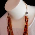 Muti Strand Necklace in Orange