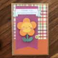 Teacher Card - flower - thank you - gift card - free post - thanks