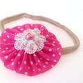 Set of Dainty Baby Headband, Swiss Dots Headband, Pink and Blue Polka Dots