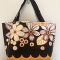 Shopping or general-purpose tote bag – retro garden print 2