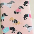 Sausage Dog Dachshund Padded Booksleeve Tablet Cover With Closure Bookworm Gift