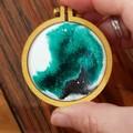 Hand Painted Resin Brooch