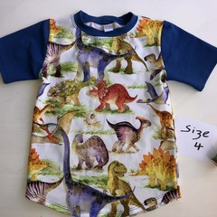 Dinosaurs Tee Size 4