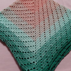 Crochet Cotton/Acrylic Blanket
