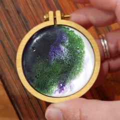 Hand Painted Resin Brooch