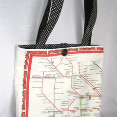 Tote Bag featuring printed map of the London train network