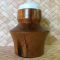 'Argentea' Turned Weed Pot and Tea-light Candlestick