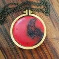 Hand Painted Resin Pendant