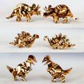 Gift Box 3 Pair Dinosaur Earrings - Bronze Glitter - Surgical Steel