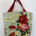 Shopping or general-purpose tote bag – retro Australian native flowers 1