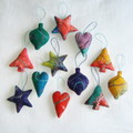 12 Felted Christmas Decorations #31