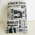 Harry Potter Newsprint Padded Booksleeve With Closure Bookworm Gift