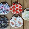 Protea - floral - neopren - lunch bag - handmade