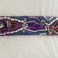 Bead Embroidered Silk Shibori Bridal Sash